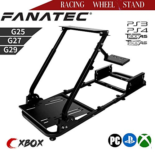 Zootopo Driving Racing Seat Racing Simulator Steering Wheel Stand Compatible for T500, FANTEC, T3PA/TGT, G25, G37, G29/T300RS Wheel Pedals Not Included Racing Wheel Stand