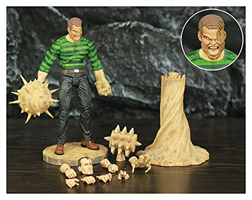 LIANGLMY Figur 7'Action Figure The Amazing Spider Legends Sand Man Diamond Select Toys Puppe (Color : B - Loose)