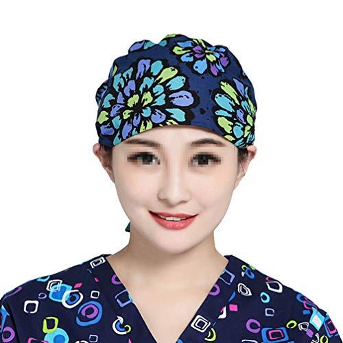 KESYOO Frauen Peeling Mützen Männer Verstellbare Peeling Hüte Schweißabsorption Arzt Krankenschwester Hut Druck Zahn Arbeitskappe