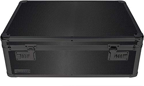 Vaultz Locking Storage Chest/Dorm Storage with Combination Locks, 6.5 x 19 x 13.5 Inches, Black on Black (VZ00458)