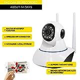 Home WiFi cámara de vigilancia de Voz de intercomunicación inalámbrica WiFi cámara de Seguridad Recibir imágenes de Pulsar WiFi WLAN cámara IP