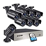 <span class='highlight'>ZOSI</span> <span class='highlight'>8CH</span> <span class='highlight'>CCTV</span> <span class='highlight'>Camera</span> System H.265  Video DVR Recorder with 8x Full HD 1920TVL 1080P Indoor Outdoor Weatherproof IP67 <span class='highlight'>Security</span> <span class='highlight'>Camera</span>s 80ft Night Vision with 1TB Hard Drive