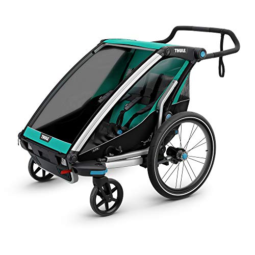 Thule Chariot Lite Fahrradlastenanhänger, Blue Grass/Black, 0 Child