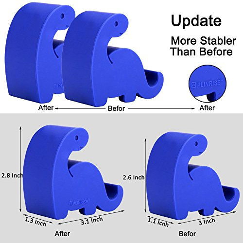 """Plinrise Animal Desk Phone Stand, Update Dinosaur Silicone Office Phone Holder, Creative Phone Tablet Stand Mounts, Size:1.3"""" X 3.1"""" X 2.8""""(Navy Blue)"""