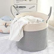 YCM Aufbewahrungskorb Kinder,Wäschekorb aus Baumwolle Seil,Baby Spielzeug Storage-Home Vorratsdosen