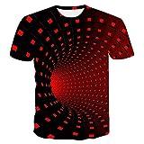 UNIFACO Unisex T-Shirt 3D Stampato Magliette Uomo Donna Divertenti Manica Corta Camicia S-XXL