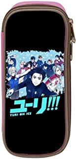 Yuri !!! on Ice Pencil Case Pen Bag Makeup Pouch Durable Students Fashion Boys Stationery with Double Zipper