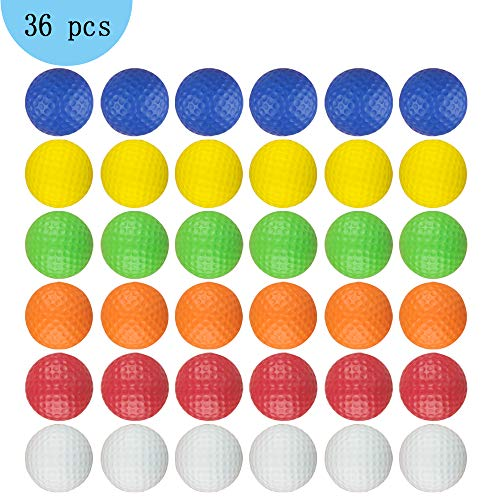 Dsmile Foam Golf Practice Balls - 36 Pack | Light Soft Elastic Training Multifunction Sport Balls