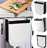 MAGIC SELECT 2 Cubo De Basura Plegable Colgante para Cocina, Baño, Dormitorio, Salón, Coche (9 litros) Colores Blanco
