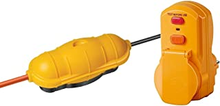 Brennenstuhl Safe Set: Safe Box Schutzkapsel für Kabel BIG IP44 outdoor gelb, 1160440 und Brennenstuhl Personenschutz Adapter BDI A 30 IP54, 1290630
