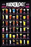 1art1 Cocktails Poster und Kunststoff-Rahmen - Mixology, In