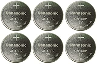 Panasonic CR1632-6 CR1632 3V Lithium Coin Battery (Pack of 6)