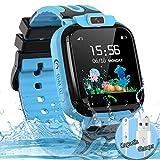 Kids Smart Watch for Boys Girls, IP67 Waterproof Child Smartwatch HD Touch Screen Call SOS Camera GPS Watch for Children...
