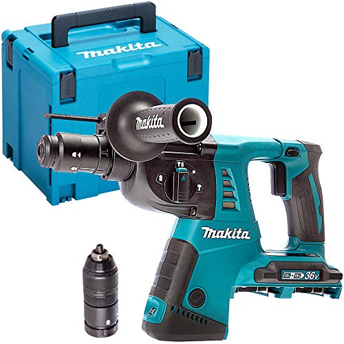Makita DHR264ZJ 18V Twin SDS Plus Hammer Drill with Pocket Tape Measures 8M/26ft Pack of 3