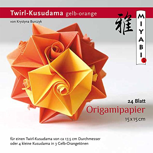 Origamipapier KB-TK-12 Origami Twirl-Kusudama gelb-orange