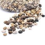 アクアリウム 彩り石 水槽用飾り石 ガーデニング用飾り石 8~18mm 観賞 魚 水族用品 底砂・砂利 天然カラー 1袋約500g