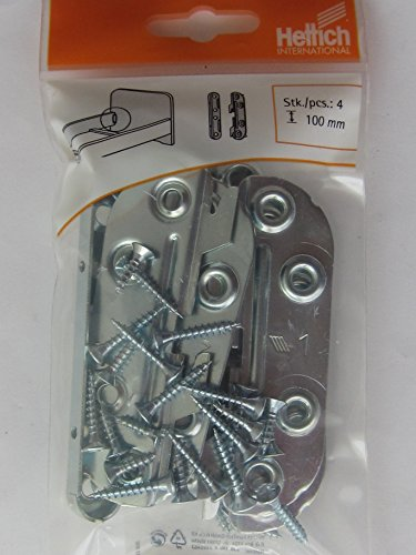 Hettich Bettbeschlag, Länge 100 mm, Stahl verzinkt, 4 Stück, 62322 EAN 4008057891677
