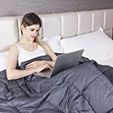 GIGALUMI Weighted Blanket Gewichtsdecke für Erwachsene 120 x 180 cm Schweredecke Grau 7kg Beschwerte Decke Ideal für Entspannung, Besseren Schlaf