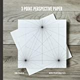3 Point Perspective Paper: Sketchpad with 3 Point Perspective Grids for Architecture, Interior Design and 3D Prototypes (Tractive Tools Perspective Grids)