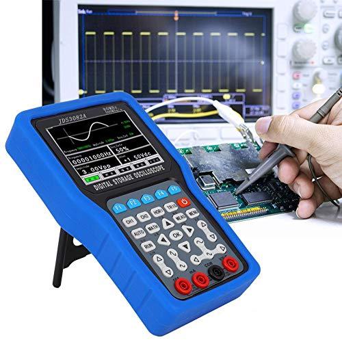 Digitales Oszilloskop, JDS3082A Handheld 500MSA/S 80MHz 2CH Digitaloszilloskope mit 6000 Multimeter 100-240V(EU)