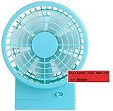 ZJZ Small Fan, Double Leaves Mini Chargeable USB, Student Carry, Dorm Room Desktop Type Fan/Office Big Wind Fan
