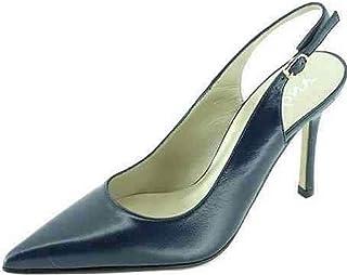 e713944556e979 Angelina® Anais Escarpin Bride Arrière Talon Aiguille Chaussures Femme  Petites Pointures Tailles 32 Marque Cuir