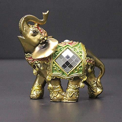 """""""N/A"""" Green Elephant Desktop Dekoration Zuhause Wohnzimmer Weinschrank Hochzeitsgeschenk Dekoration Handwerk-Grüne Trompete"""