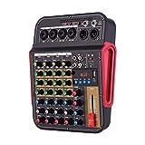 AFYH Mesas de Mezcla de Estudio, Mezclador de Audio Digital de 4 Canales Consola de Mezclas con función BT Sistema de Audio Profesional para grabación de Estudio, difusión, DJ Network Live