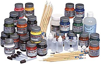 Jacquard 401508 Dye-Na-Flow Fabric Painting Classroom Pack, Assorted Color
