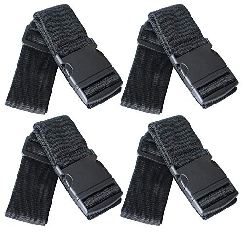 SEPOX Travel Packing Belt Suitcase Baggage Security Straps Luggage Straps Black Travel Accessories 4-Pack Luggage Straps Adjustable 79'