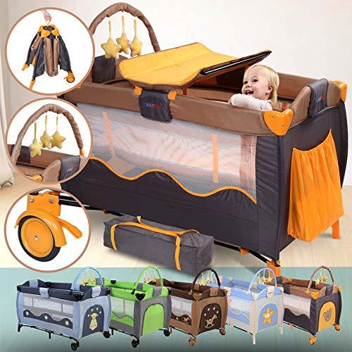 Infantastic® - Cuna de viaje, incluye colchoneta y accesorios (diferentes...