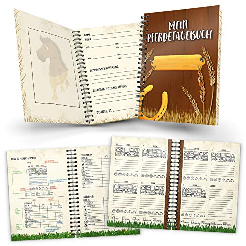 trendaffe Mein Pferdetagebuch Notizbuch mit 116 Seiten für Reiter -