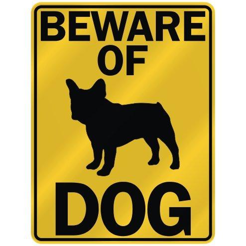 BEWARE OF ' FRENCH BULLDOG ' PARKING SIGN DOG