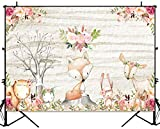 ✪ITEM SIZE--7(W) x 5(H)ft / 220 x 150cm; Only Woodland animals backdrop is included (stand is not included). ✪HIGH QUALITY--Woodland Animals decorations backdrop vivid colorful images, Made of Silk (Upgraded Vinyl). Which is more thicker than Vinyl,l...