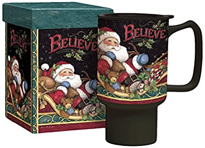 Santa Clause Delivering Presents Travel Tumbler