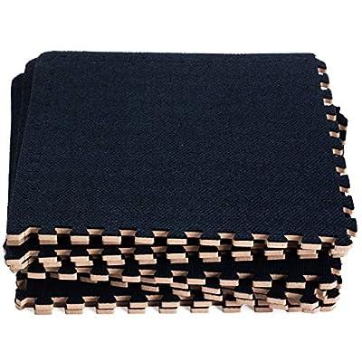 Dooboe Interlocking Foam Mats – Play Mat – Interlocking Carpet Floor Tiles – Premium Foam Mat with Borders – Dark Blue, Soft, Non-Toxic
