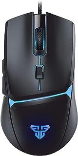 【最新版】ゲーミングマウス LED光学式 usb有線 200~8000DPI調節 6ボタン数【応答速度アップ!】RGBライティング マクロ対応 VX7 手に馴染みやすい 遅延なし 長持ち