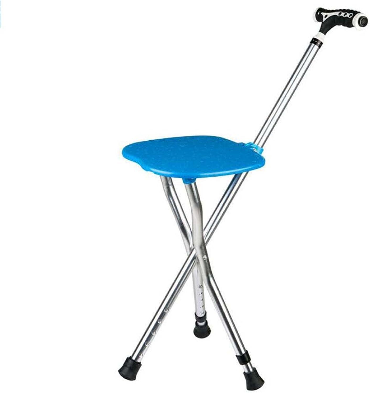 Smart Folding Walking Stick Stool Multi-Purpose Portable Crutch Stool Tripod Cane Older Non-Slip Chair Seat,Magnetic Handle+LED Lights+Five Gears Adjust,Best Gift Choice