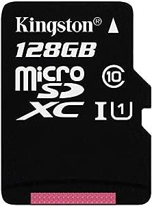 Kingston SDCX10 128GB Class 10  128 Micro SDXC Memory Card with Adapte...