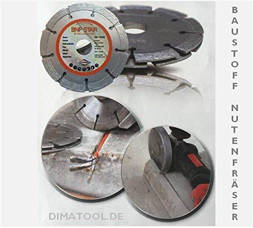 1x 115mm CEDIMA Baustoff Nutenfräser für Kabelschächte in Beton, Putz, Mauerwerk