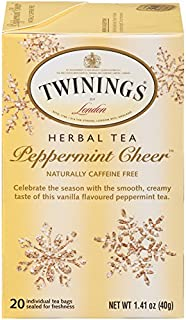 Twinings of London Peppermint Cheer Tea Bags, 20 Count (Pack of 6)