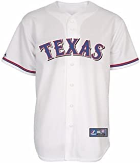 VF Texas Rangers MLB Mens Home White Majestic Replica Jersey Big & Tall Sizes