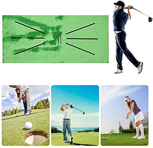 Alfombra De Entrenamiento De Golf, Mini Golf Practice Capacitación Ayuda A La Alfombra para Detección De Swing Bate, Juego Y Regalo para El Hogar/Oficina/Al Aire Libre (12'X 24')