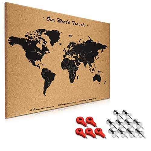 Navaris tablero de notas de corcho - Tablero con mapa del