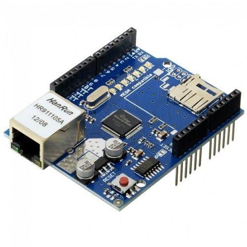 Ethernet Shield W5100 SD Slot Expansion board Arduino 2015 UNO Mega 1280 2560 rete lan micro sd W 5100