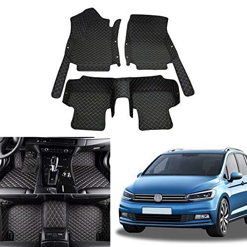 OREALTECH Fußmatte Auto für Volkswagen Vw Touran Fünf-Sitzer 2016 2017 2018 Allwetter XPE Leder Autoteppich 3D All-Inclusive-Stil Automatte vorn und hinten