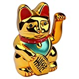 Schramm Winkekatze Gold Meneki Neko Winke Katze Chinesische Glücks Katze Glückskatze Glücksbringer