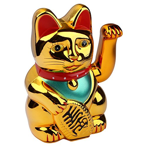 Schramm® Wave Cat Gold Meneki Neko Wave Cat Chinese Lucky Cat Lucky Cat Lucky Cat Lucky Charm
