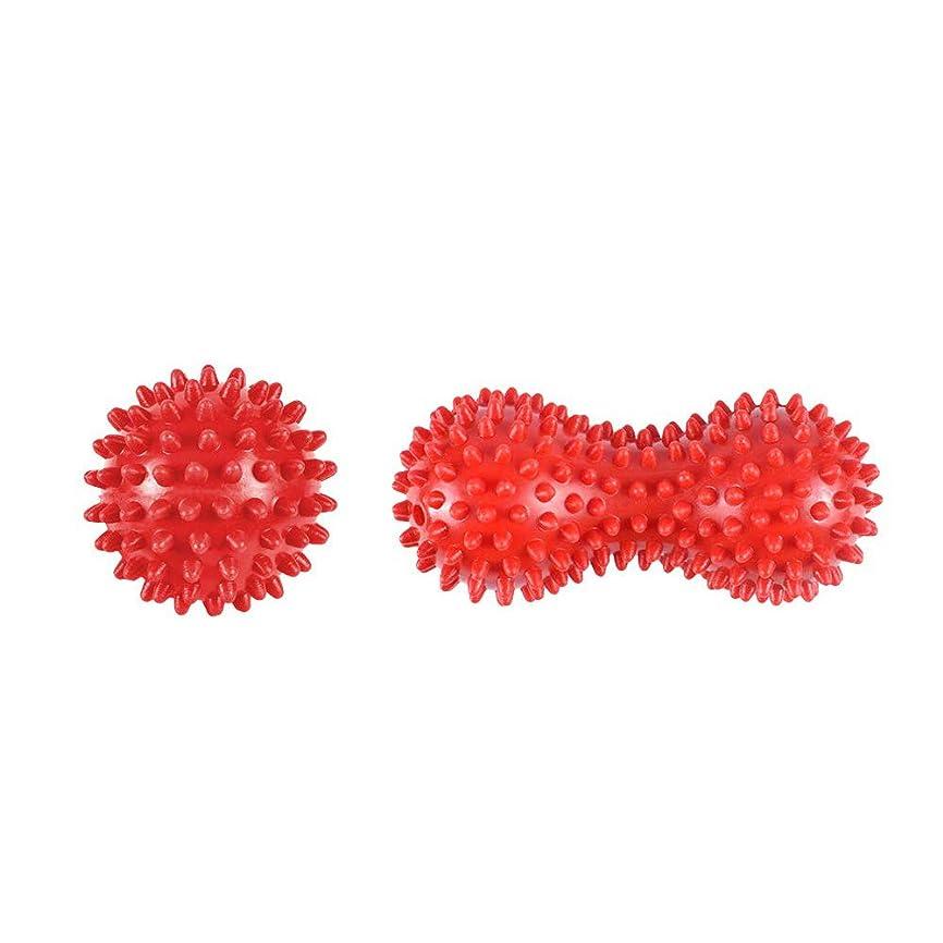 トロリーバス忍耐貧困ヨガボール ツボ押しグッズ ツボマッサージ ツインボール マッサージボール ストレッチ ピーナッツ型 筋膜