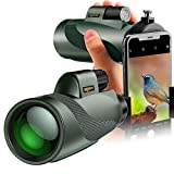 SOLOMARK 12x50 High Power Monocular and Quick Phone Adapter...